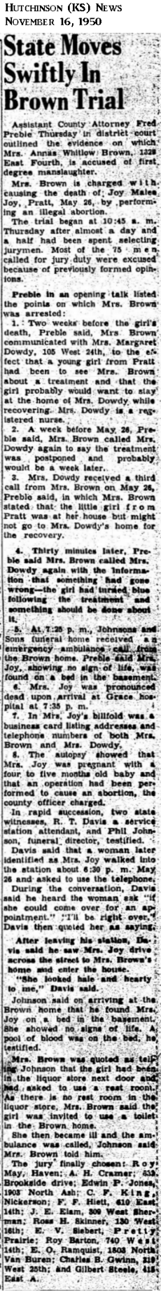 JoyJoyHutchinsonKSNews16Nov1950.png