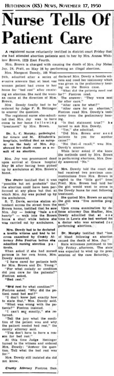 JoyJoyHutchinsonKSNews17Nov1950.png