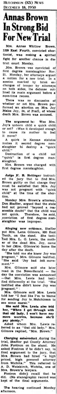 JoyJoyHutchinsonKSNews18Dec1950.png