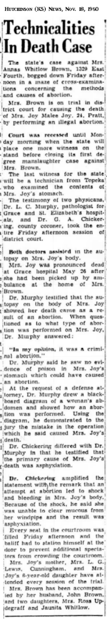 JoyJoyHutchinsonKSNews18Nov1950.png