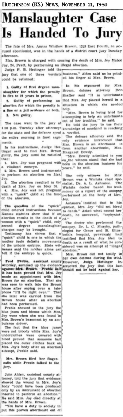 JoyJoyHutchinsonKSNews21Nov1950.png