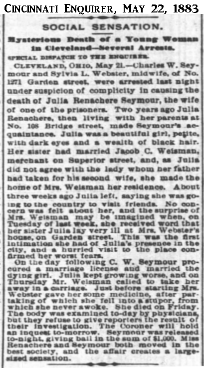 JuliaSeymourCincinnatiEnquirer22May1883.png