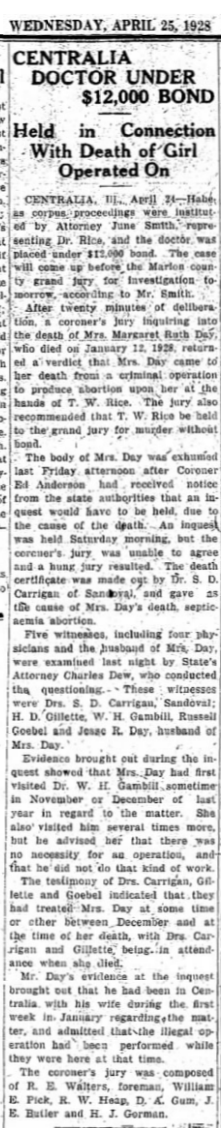 MargaretRuthDayCarbondaleILDailyFreePress25April1928.png